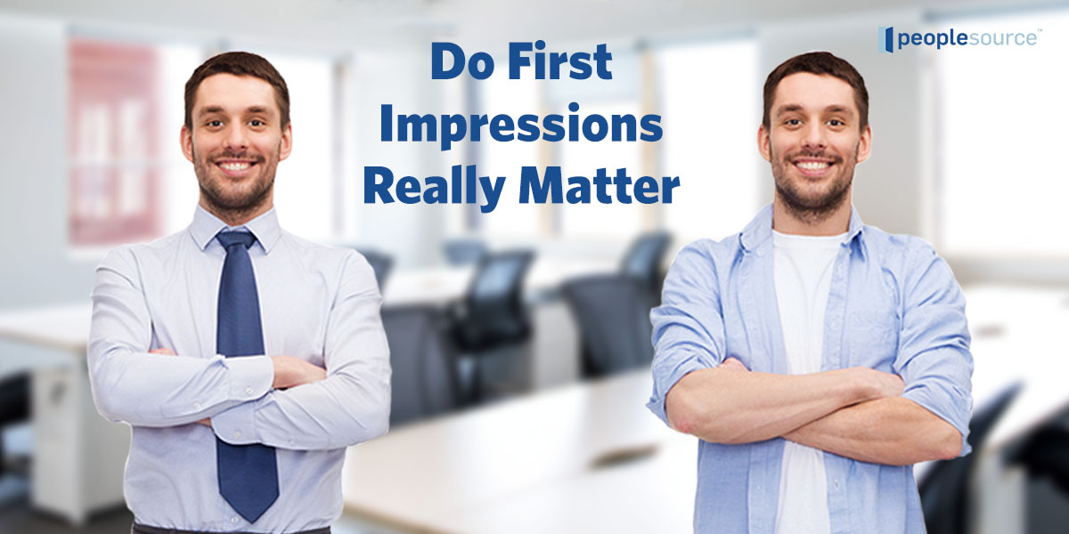 October 17- Do First Impressions Really Matter